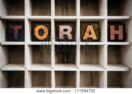 Torah Concept Wooden Letterpress Type In Drawer
