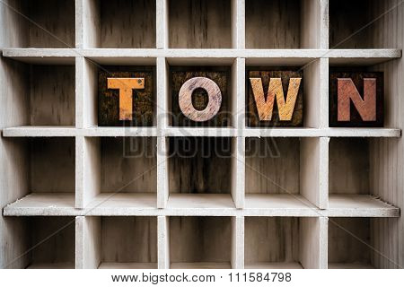 Town Concept Wooden Letterpress Type In Drawer