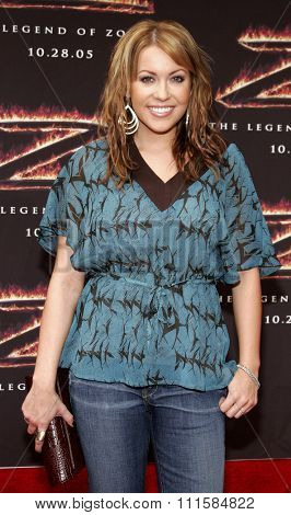 LOS ANGELES, CA - OCTOBER 16, 2005: Farah Fath at the Los Angeles premiere of 'The Legend of Zorro' held at the Orpheum Theater in Los Angeles, USA on October 16, 2005.