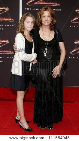 LOS ANGELES, CA - OCTOBER 16, 2005: Lea Thompson and Zoey Deutch at the Los Angeles premiere of 'The Legend of Zorro' held at the Orpheum Theater in Los Angeles, USA on October 16, 2005.