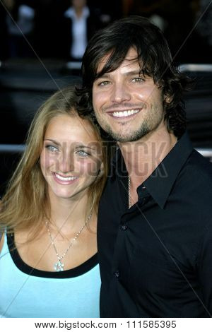 2 August 2004 - Los Angeles, California - Jason Behr and guest. The World Premiere of 'Collateral' at the Orpheum Theatre in downtown Los Angeles.