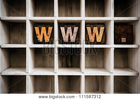 Www Concept Wooden Letterpress Type In Drawer