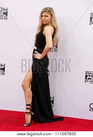 LOS ANGELES, CA - NOVEMBER 23, 2014: Fergie at the 2014 American Music Awards held at the Nokia Theatre L.A. Live in Los Angeles on November 23, 2014.