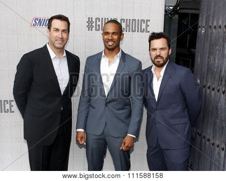 CULVER CITY, CA - JUNE 07, 2014: Jake Johnson, Damon Wayans Jr. and Rob Riggle at the Spike TV's