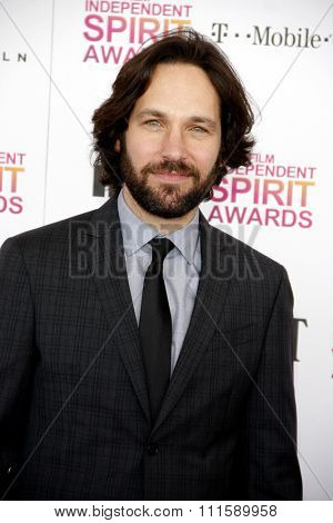 Paul Rudd at the 2013 Film Independent Spirit Awards held at the Santa Monica Beach in Los Angeles, United States on February 23, 2013.