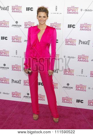 Stana Katic at the 2013 Film Independent Spirit Awards held at the Santa Monica Beach in Los Angeles, United States on February 23, 2013.
