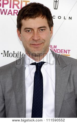 Mark Duplass at the 2013 Film Independent Spirit Awards held at the Santa Monica Beach in Los Angeles, United States on February 23, 2013.