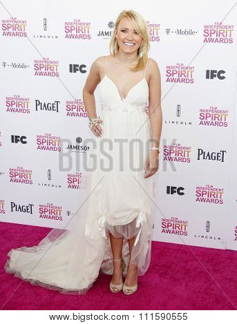 Emily Osment at the 2013 Film Independent Spirit Awards held at the Santa Monica Beach in Los Angeles, United States on February 23, 2013.