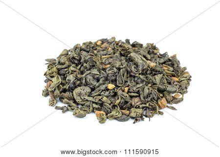 Loose Biological Jasmin Garden Tea On White Background
