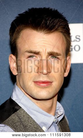 Chris Evans at the 24th Annual GLAAD Media Awards held at the JW Marriott Los Angeles at L.A. LIVE in Los Angeles, USA on April 20, 2013.