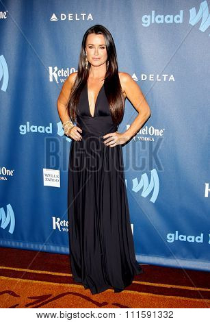 Kyle Richards at the 24th Annual GLAAD Media Awards held at the JW Marriott Los Angeles at L.A. LIVE in Los Angeles, USA on April 20, 2013.