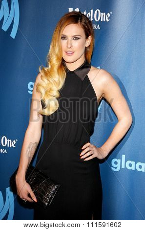 Rumer Willis at the 24th Annual GLAAD Media Awards held at the JW Marriott Los Angeles at L.A. LIVE in Los Angeles, USA on April 20, 2013.
