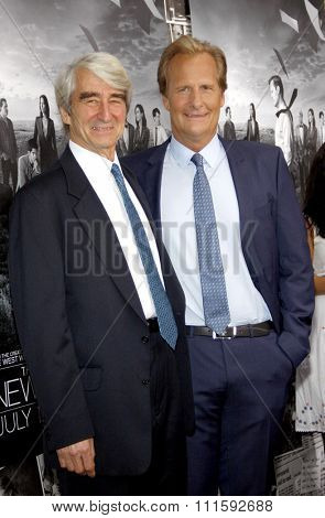 Jeff Daniels and Sam Waterston at the HBO's Season 2 Premiere Of