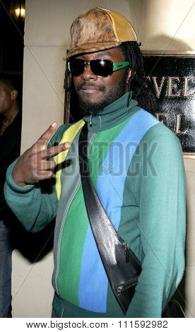 10/17/2005. Will.I.Am of The Black Eyed Peas attends the Usher Host Truth Tour DVD Launch Party at the Hollywood Roosevelt Hotel in Hollywood, CA, USA.
