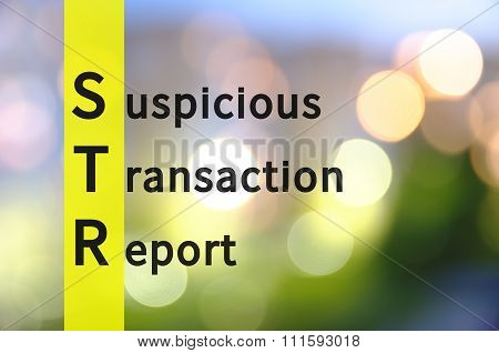 Suspicious Transaction Report