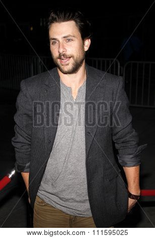 Charlie Day at the Los Angeles premiere of FX's 'It's Always Sunny In Philadelphia' held at the ArcLight Cinemas in Hollywood, USA on September 13, 2011.