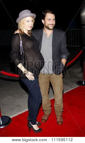 Charlie Day and Mary Elizabeth Ellis at the Los Angeles premiere of FX's 'It's Always Sunny In Philadelphia' held at the ArcLight Cinemas in Hollywood, USA on September 13, 2011.