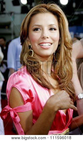 Eva Longoria at the Los Angeles premiere of 'John Tucker Must Die' held at the Grauman's Chinese Theater in Hollywood, USA on July 25, 2006.