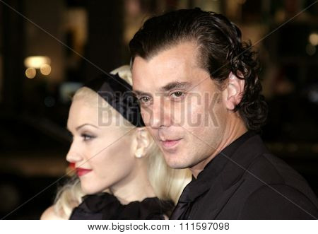 HOLLYWOOD, CA - FEBRUARY 16, 2005: Gavin Rossdale and Gwen Stefani at the Los Angeles premiere of 'Constantine' held at the Grauman's Chinese Theatre in Hollywood, USA on February 16, 2005.