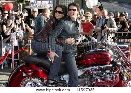 HOLLYWOOD, CALIFORNIA - June 27 2005. Tom Cruise and Katie Holmes attend at the