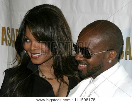 BEVERLY HILLS, CALIFORNIA. May 16, 2005. Janet Jackson and Jermaine Dupri attend at the 22nd Annual ASCAP Pop Music Awards at the Beverly Hilton Hotel in Beverly Hills, California.