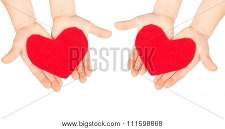 Hearts In The Children Hands. Love And Help