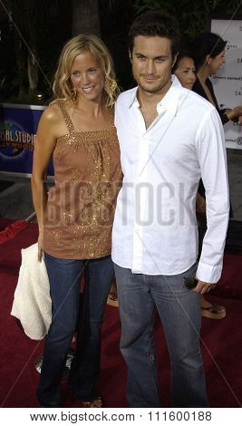 UNIVERSAL CITY, CALIFORNIA. August 2, 2005. Erinn Bartlett and Oliver Hudson at the