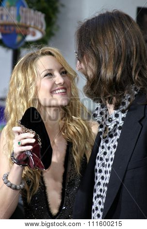 UNIVERSAL CITY, CALIFORNIA. August 2, 2005. Kate Hudson and husband Chris Robinson at the