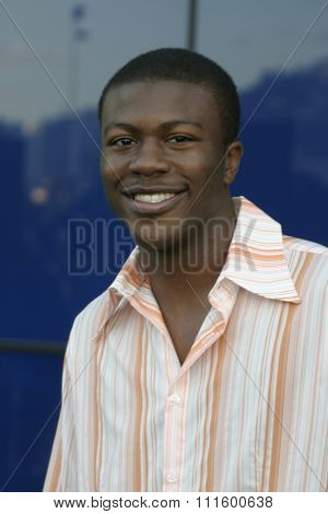 Edwin Hodge at The WB Network's 2004 All Star Party- Red Carpet & Party at The Lounge At Astra West in Los Angeles, USA on July 14, 2004.