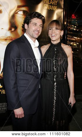 WESTWOOD, CALIFORNIA. January 4, 2007. Hilary Swank and Patrick Dempsey at the Los Angeles of