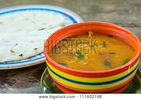 Bowl of tasty soup.
