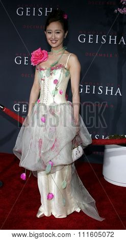 HOLLYWOOD, CALIFORNIA. December 4, 2005. Youki Kudoh attends the Premiere of Memoirs of a Geisha at the Kodak Theater in Hollywood, California United States.