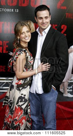 BUENA PARK, CALIFORNIA. October 8, 2006. Freddie Prinze Jr. and wife Sarah Michelle Gellar attend the World Premiere of