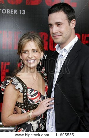BUENA PARK, CALIFORNIA. October 8, 2006. Freddie Prinze Jr. and wife Sarah Michelle Gellar attend the World Premiere of