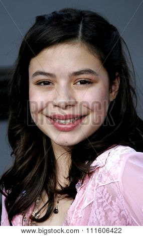 HOLLYWOOD, CALIFORNIA. November 20, 2005. Miranda Cosgrove at the