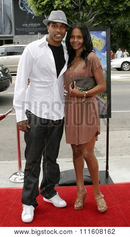 HOLLYWOOD, CALIFORNIA. July 30, 2006. Samantha Mumba and Charles Porter attend the World Premiere of