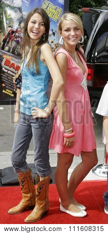 HOLLYWOOD, CALIFORNIA. July 30, 2006. Jamie Lynn Spears and Victoria Justice attend the World Premiere of