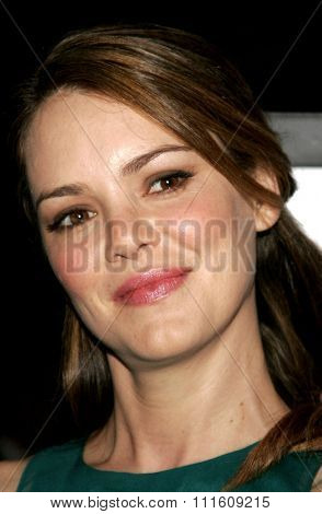HOLLYWOOD, CALIFORNIA. September 13, 2006. Jacinda Barrett attends the Los Angeles Premiere of