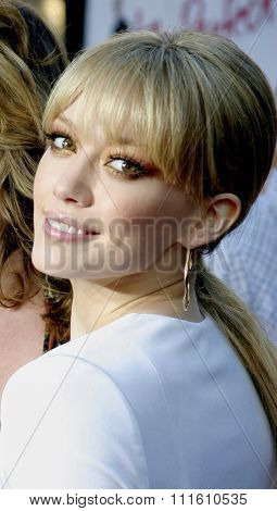 HOLLYWOOD, CALIFORNIA - June 13 2005. Hilary Duff attends at the