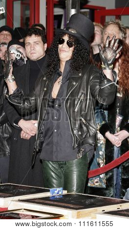 HOLLYWOOD, CALIFORNIA. January 17, 2007. Slash, Ronnie James Dio and Terry Bozzio Inducted into Hollywood's RockWalk held at the Guitar Center Hollywood's RockWalk in Hollywood, USA.