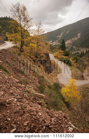 Scenic Mountain Autumn Landscape