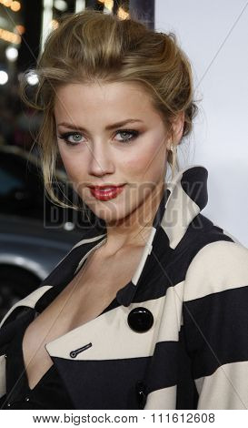 Amber Heard attends the World Premiere of