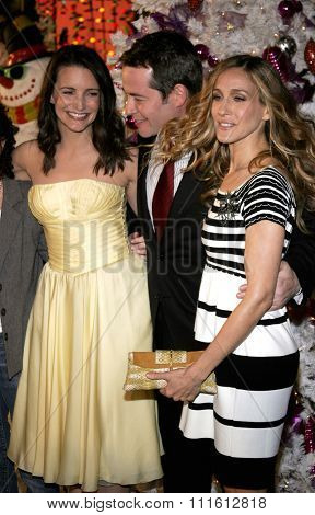HOLLYWOOD, CALIFORNIA. November 12, 2006. Matthew Broderick, Kristin Davis and Sarah Jessica Parker at the World Premiere of