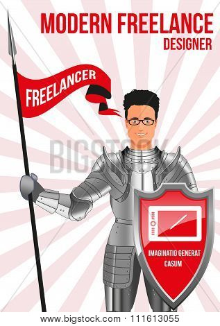 Designer Freelancer Design Concept