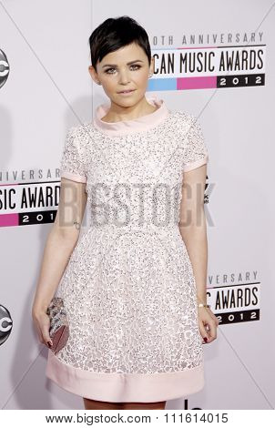 Ginnifer Goodwin at the 40th American Music Awards held at the Nokia Theatre L.A. Live in Los Angeles, USA on November 18, 2012.