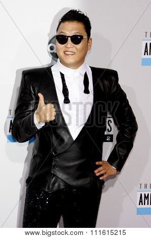PSY at the 2012 American Music Awards held at the Nokia Theatre L.A. Live in Los Angeles, USA on November 18, 2012.