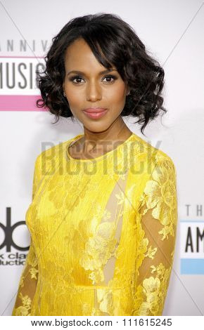 Kerry Washington at the 2012 American Music Awards held at the Nokia Theatre L.A. Live in Los Angeles, USA on November 18, 2012.