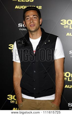 Zachary Levi at the Los Angeles premiere of '30 Minutes Or Less' held at the Grauman's Chinese Theatre in Hollywood, USA on August 8, 2011.