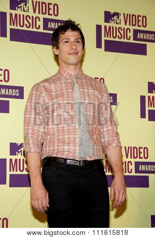 Andy Samberg at the 2012 MTV Video Music Awards held at the Staples Center in Los Angeles, USA on September 6, 2012.