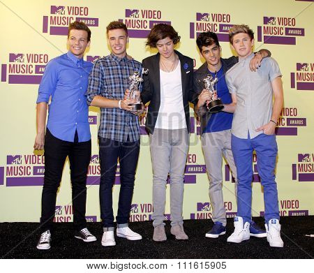 One Direction at the 2012 MTV Video Music Awards held at the Staples Center in Los Angeles, USA on September 6, 2012.